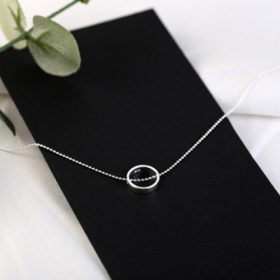 Ring Circle Silver Anklet