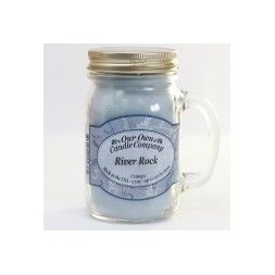 Scented Candle Jar -River Rock