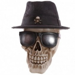 Gothic Skull  wearing Trilby Hat