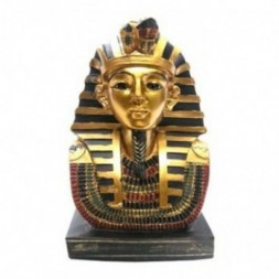 Gold Egyptian 11cm Tutankhamen Bust