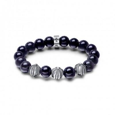 Black Obsidian Silver Bracelet