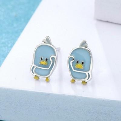 Duck Silver Studs Earrings