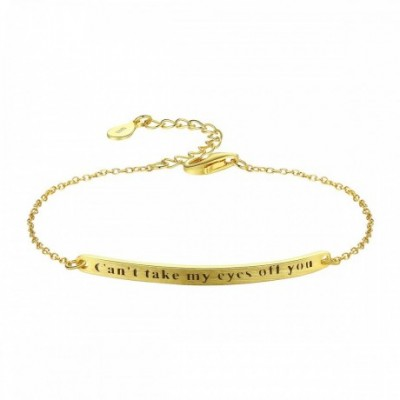 Can't Take My Eyes Off You Letters Silver Bracelet