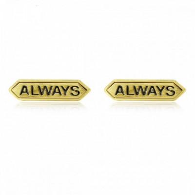 Always Letters Silver Studs Earrings
