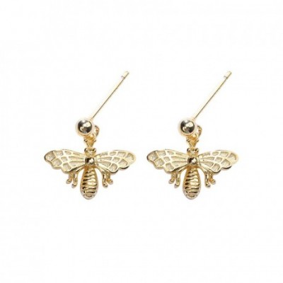 Bees Gold-plated Silver Dangling Earrings