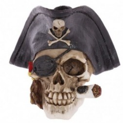 Pirate Skull  with Cigar