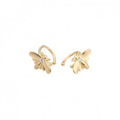 Honey Bees Gemstones & Gold-plated Silver Stud Earrings
