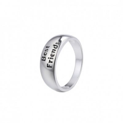 Best Friends Letters Silver Ring