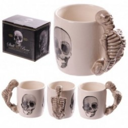 Skeleton  Shaped Handle Mug