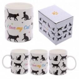 I Love My Cat Bone China Mug