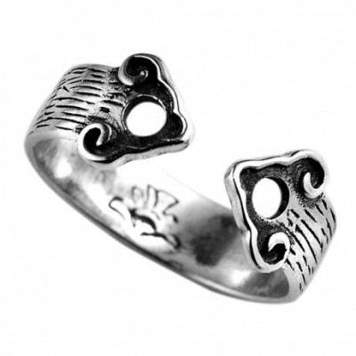 Aumpicious Clouds Silver Adjustable Ring