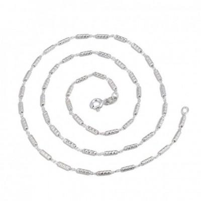 6 Column Tube Silver Necklace