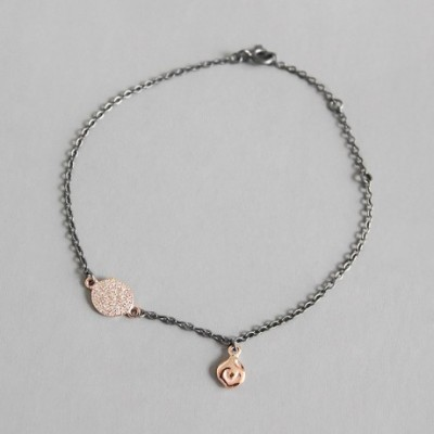 Chic  Gemstone Round Cloud Silver Bracelet