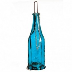 Recycled Bottle Lantern - Teal