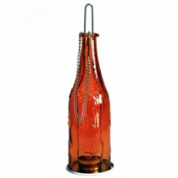 Recycled Bottle Lantern - Amber