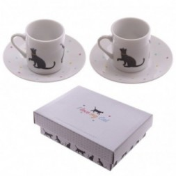 I love My Cat - Set of 2 Espresso Cup and Saucer