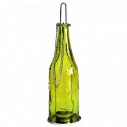 Recycled Bottle Lantern - Moss