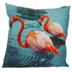 Flamingos Lake Cushion