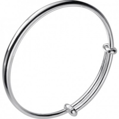 Bridesmaid Geometric S Silver Bangle