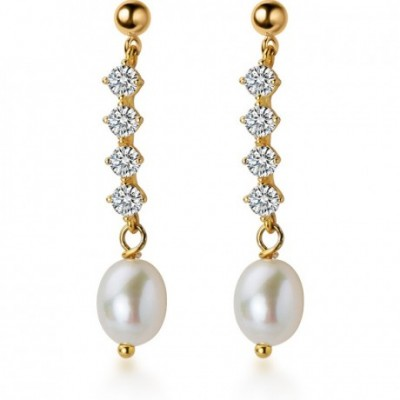 Anniversary  Gemstone Waterdrop Shell Pearl Silver...