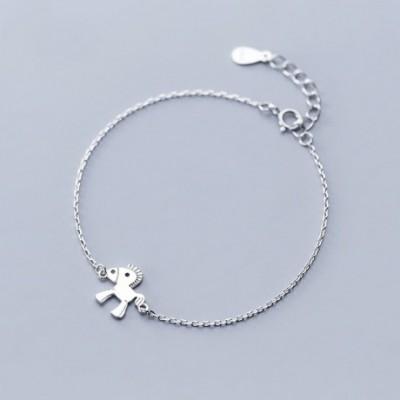 Animal Horse Silver Bracelet