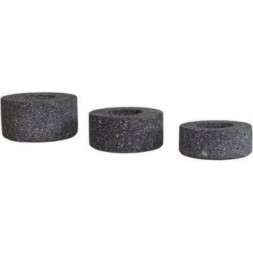 Lava Candle Holder Round - Set Of 3