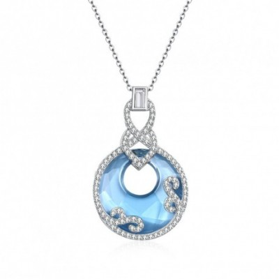Aumtrian Crystal Safety Buckle  Gemstone Silver Necklace