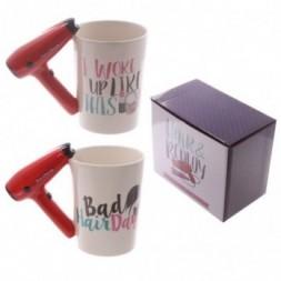 Hair Drier Handle Ceramic Mug