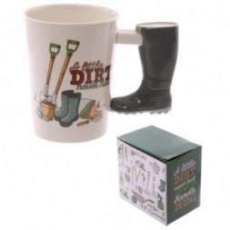 Garden Wellington Boot Handle Ceramic Mug