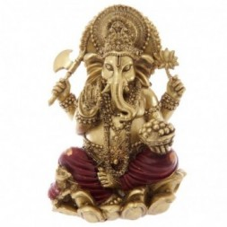 Ganesh Gold and Red Coloured Statue