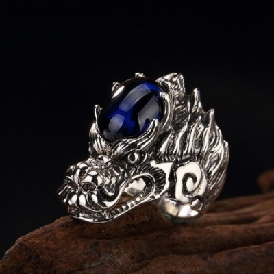 Blue Dragon Silver Ring