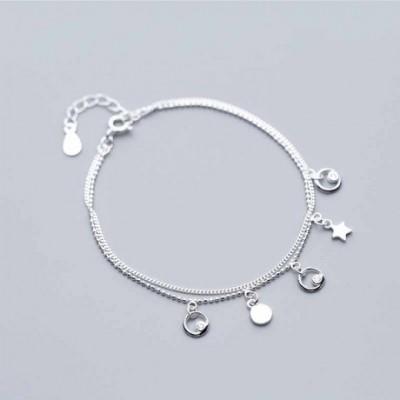 Gemstone Dasic Stars Silver Bracelet & Anklet