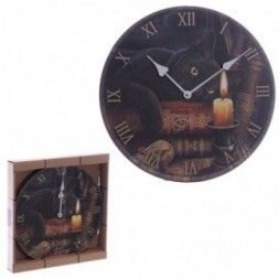Magical Witching Hour Cat Wall Clock