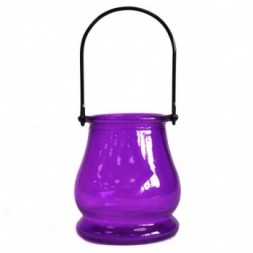 Recycled Candle Lantern - Lavender