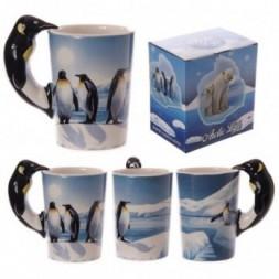 Arctic Design Penguin Shaped Handle Mug