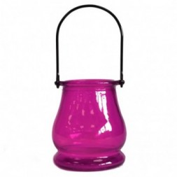 Recycled Candle Lantern - Violet