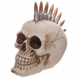 Bullet Mohican Skull Ornament