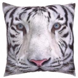 Snow Tiger Print Cushion