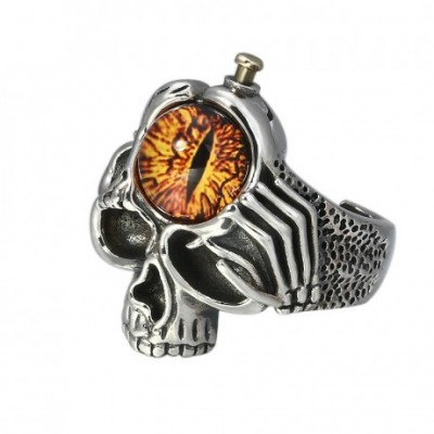 Devil Eye Skull Silver Adjustable Ring