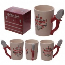 Builders Pliers Shaped Handle Ceramic Mug
