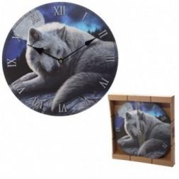 Guardian Wolf Wall Clock
