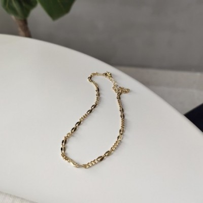 Classic Hollow Ins Silver Anklet