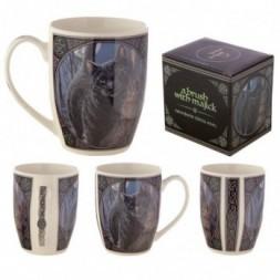 Brush with Magic Cat Bone China Mug