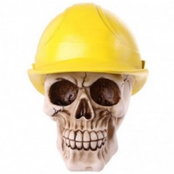 Builders Helmet Skull Ornament