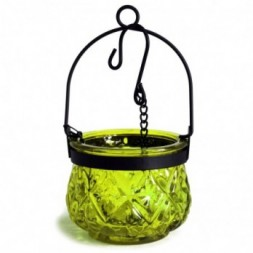 Moroccan Style Hanging Candle Lantern - Moss