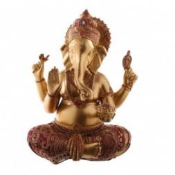 Ganesh Red and Gold coloured Figurine