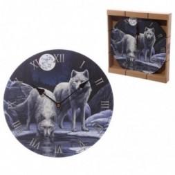 Wolf Warriors of Winter  Wall Clock