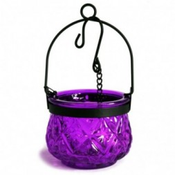Moroccan Style Hanging Candle Lantern - Lavender