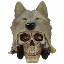 Wolf Head  Skull Ornament