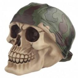 Camouflage Bandana Skull Ornament